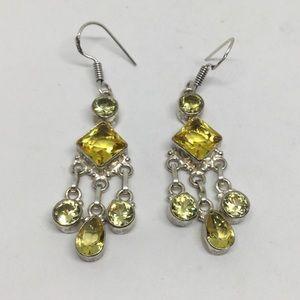 Handmade Jewelry - Citrine Dangle Earrings